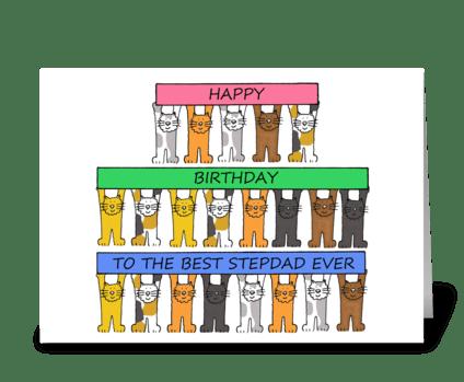 Step Dad Happy Birthday greeting card
