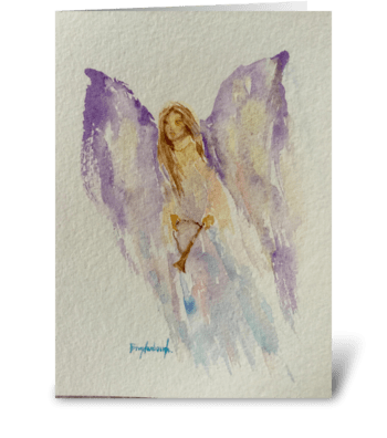 Heralding Angel: Heralding On High greeting card