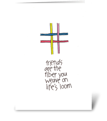 friends are the fiber greeting card