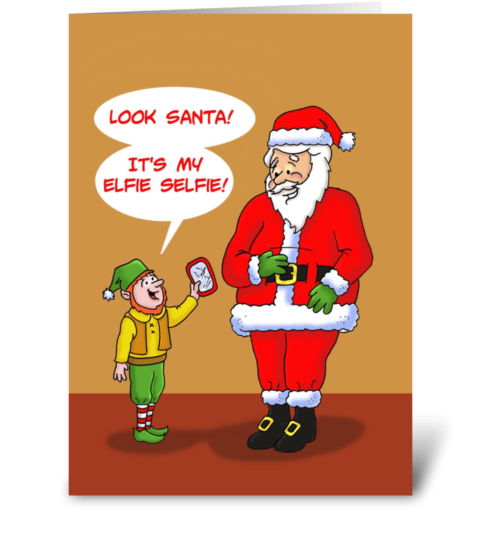 Elfie Selfie greeting card