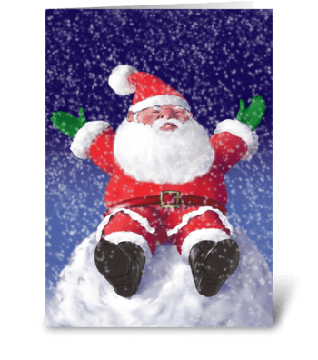 Rolly Gnome Christmas greeting card