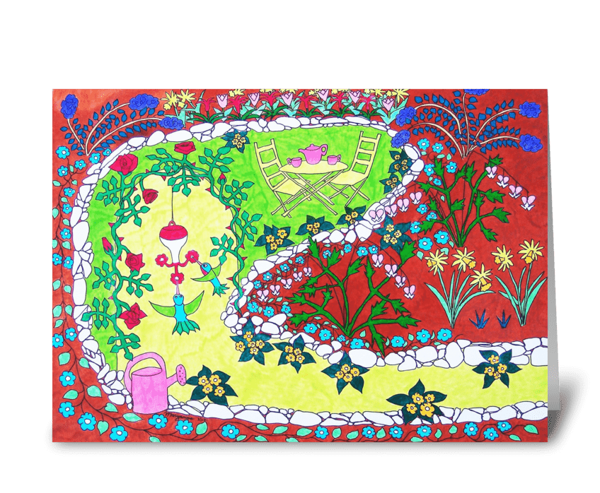 The Garden of My Heart greeting card