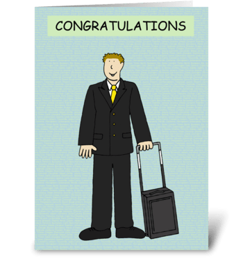 Male Cabin Crew Congratulations. greeting card