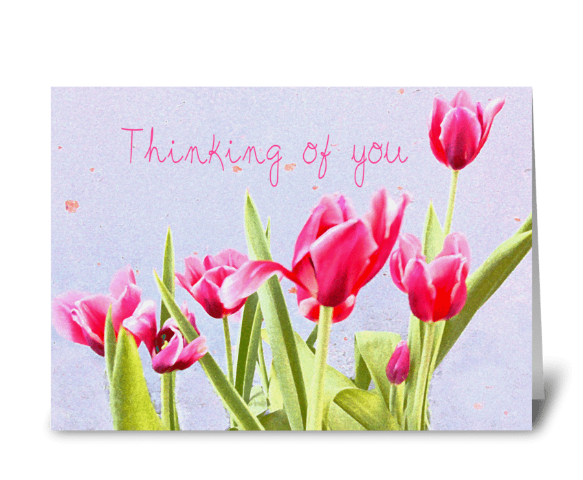 Thinking of you tulip card greeting card