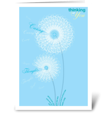 Thinking of You Flowers greeting card