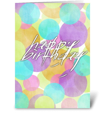 Happy Birthday Circles greeting card