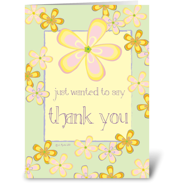 Colorful Daisies Thank You Card greeting card