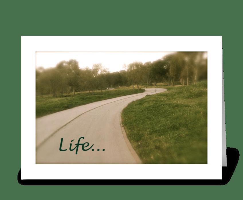 Life's path greeting card