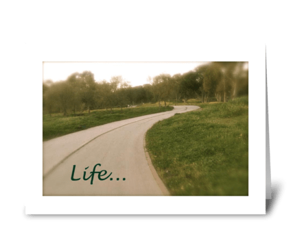 Life's path greeting card