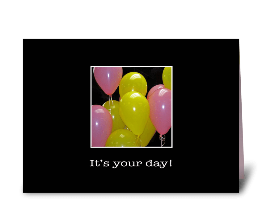 Happy Birthday Balloons greeting card
