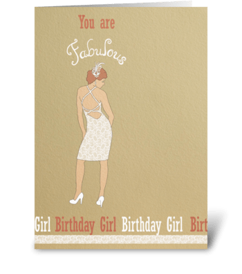 Fabulous Birthday Girl greeting card