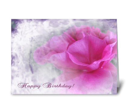 Pink rose texture for Birthday greeting card