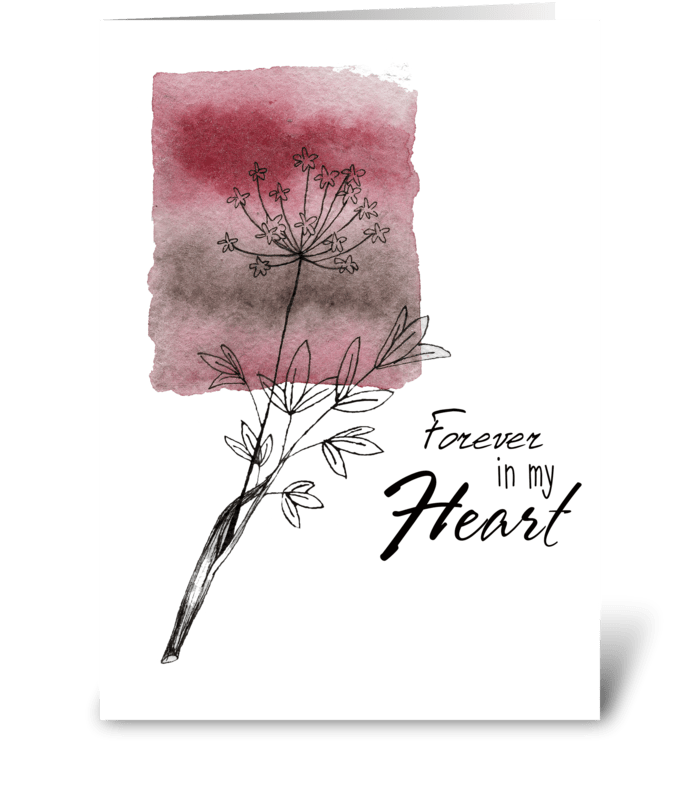 Mom is forever in my heart greeting card