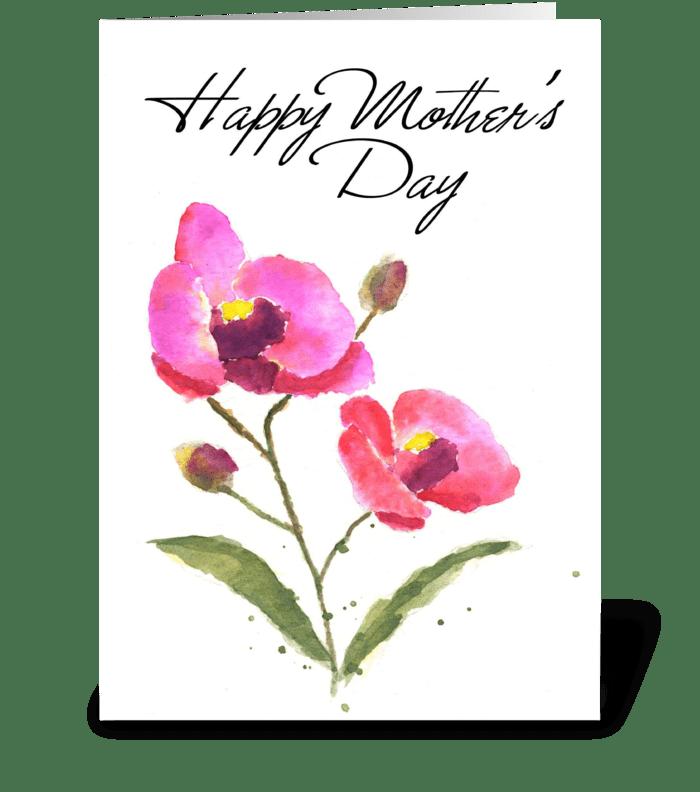 """""""Love Ya Mom"""" greeting card"""