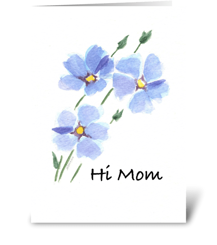 Periwinkle Blue greeting card