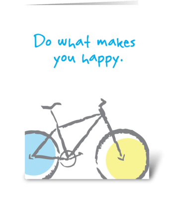 Born to Bike greeting card