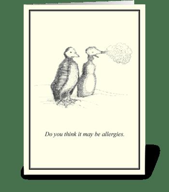 Allergies greeting card