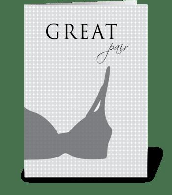 Great Pair greeting card