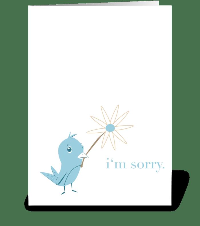 Sorry Bird greeting card