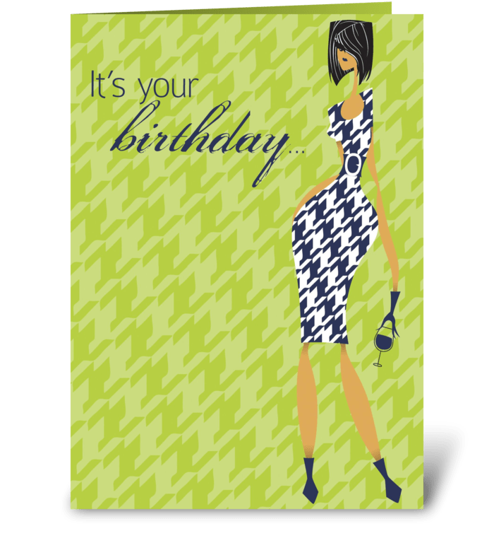 Happy Hour Birthday greeting card