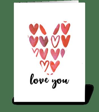 You make my heart sing greeting card