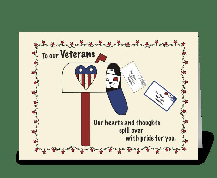 Veterans Day Mailbox Patriotic greeting card