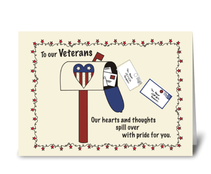 Veterans Day Mailbox Patriotic greeting card