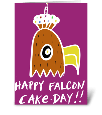 Happy Falcon Cake Day greeting card