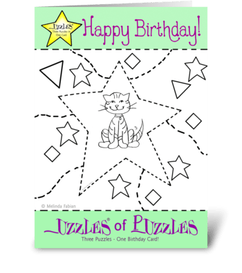 Happy Cat greeting card