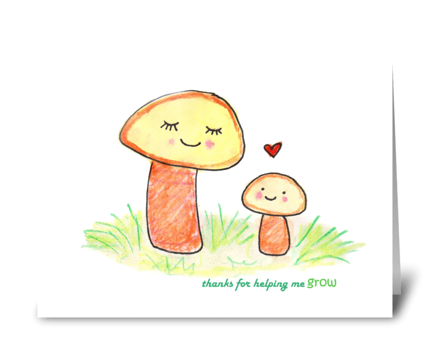 Mother Mushroom greeting card
