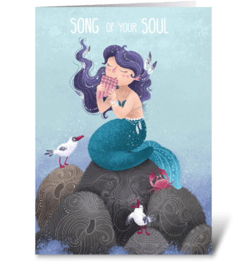 Song of your soul greeting card