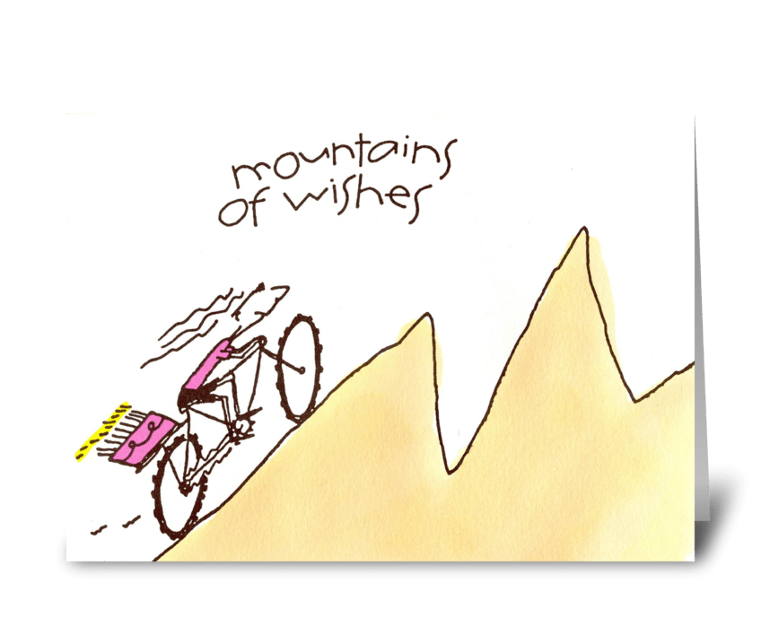 mountains of wishes greeting card