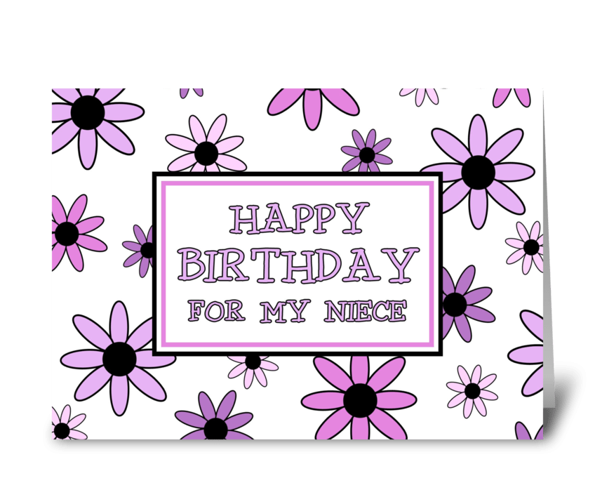 Niece Birthday Card Pretty Flowers greeting card