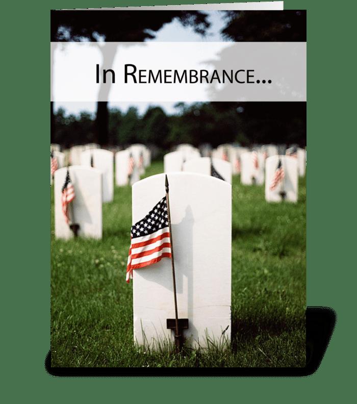 3446 Veteran's Day Patriotic Remembrance greeting card