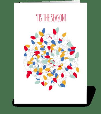 Tangled Lights greeting card