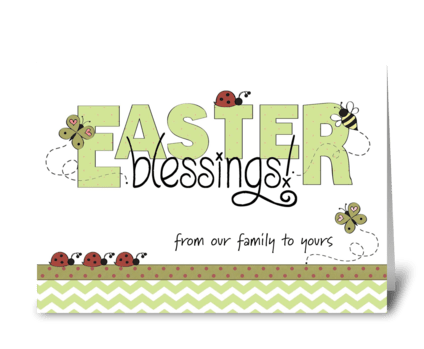 Easter Blessings from our family greeting card