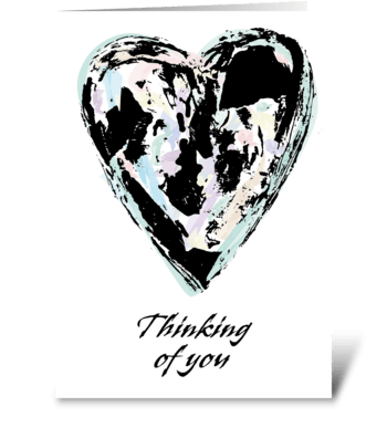127 Thinking of You Abstract Heart greeting card