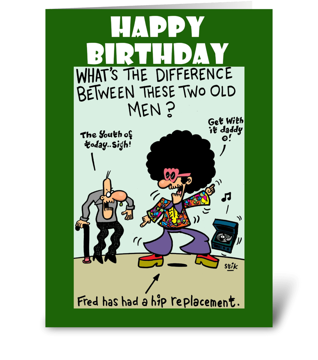 Hip Replacement Birthday Card