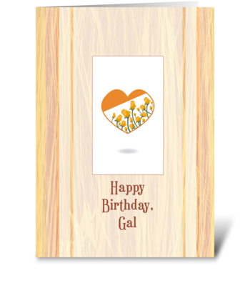 Yellow Rosy Day greeting card