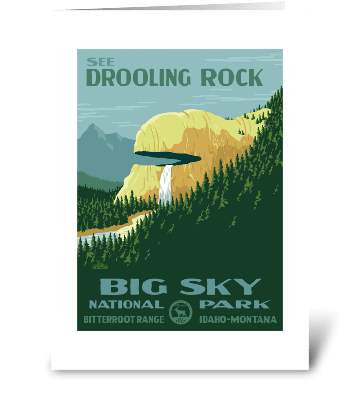 Drooling Rock greeting card