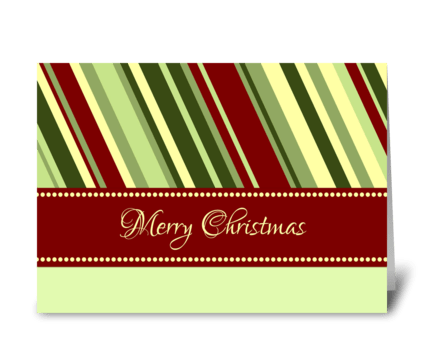 Merry Christmas Classic Stripes greeting card
