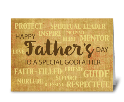 Godfather Religious Father's Day greeting card