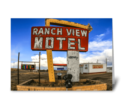 Ranch View Motel greeting card