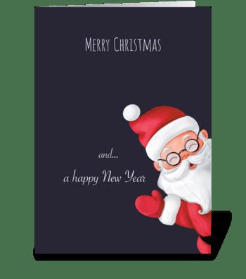 Santa say hi greeting card