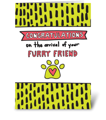 Congratulations New Pet greeting card