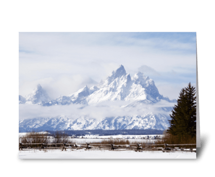 Tetons in the winter greeting card