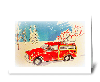 Special Christmas Delivery greeting card