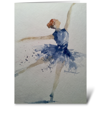 Dance of the Midnight Swan greeting card