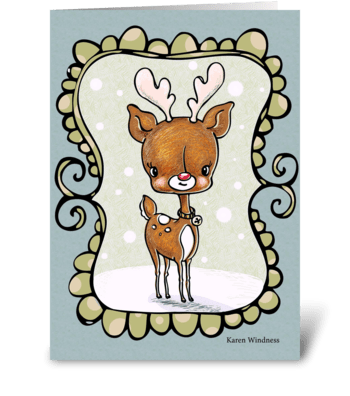Winter Reindeer greeting card