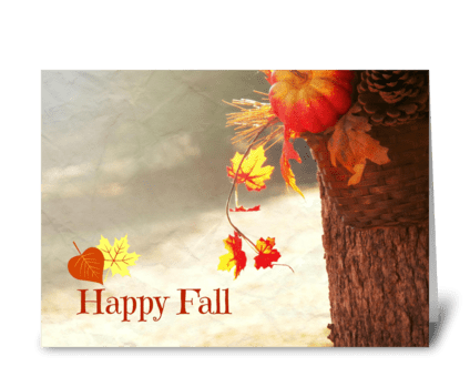 Happy Fall greeting card